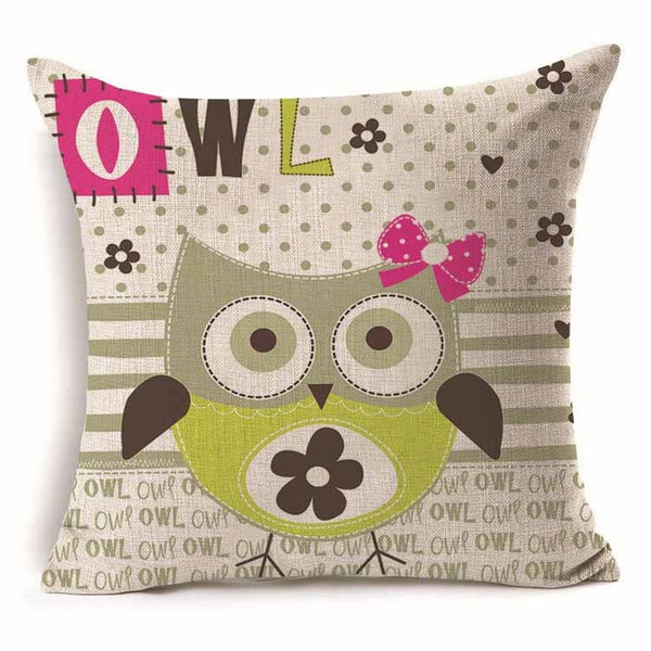 Owl Cushion Covers
