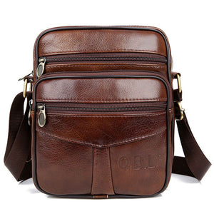 Genuine Leather Crossbody Shoulder Bag