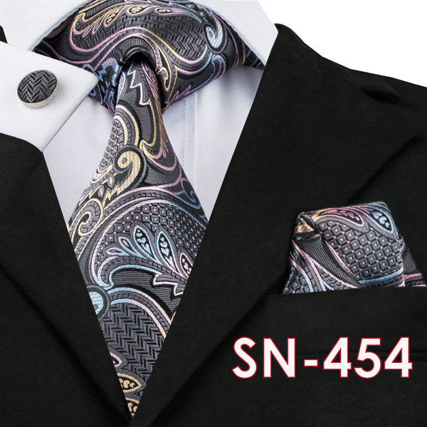 Mens Neck Tie, Hanky and Cuff Link Set