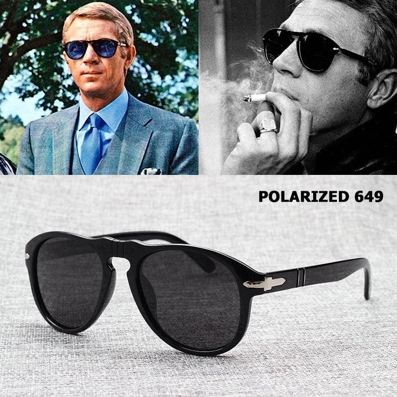Persol Inspired Vintage Sunglasses as worn by Steve McQueen – SnazzyBiz 673c7393e560