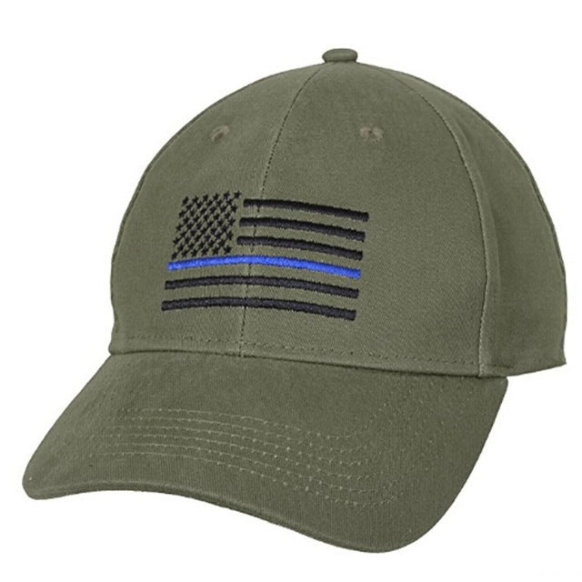 Thin Blue Line American Flag Cap