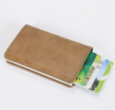 RFID Safe Automatic Pop Up Wallet