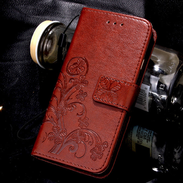 Leather Flip over Wallet case for Samsung Phones
