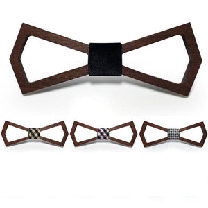 Wooden Fashion Bow Ties