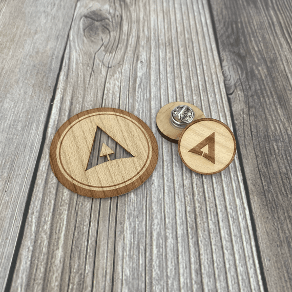 Reclaimed Wood Sticker & Pin Set - One Million Acres