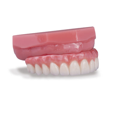 BruxZir<sup>®</sup> Full-Arch Implant Prosthesis Sample with Pink Base