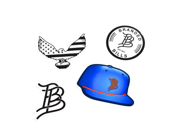 Eagle Blue Hat Sticker Pack