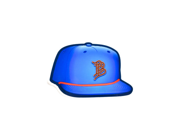BB Blue Hat Sticker