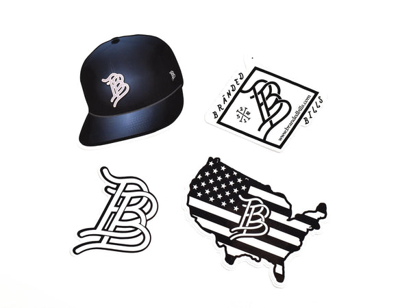 USA Black Hat Sticker Pack