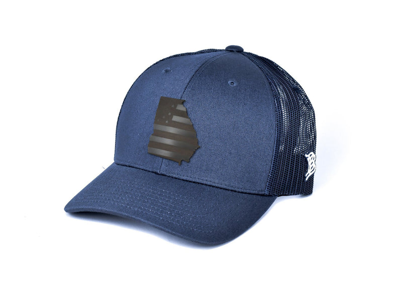 Georgia Midnight Patriot Curved Trucker