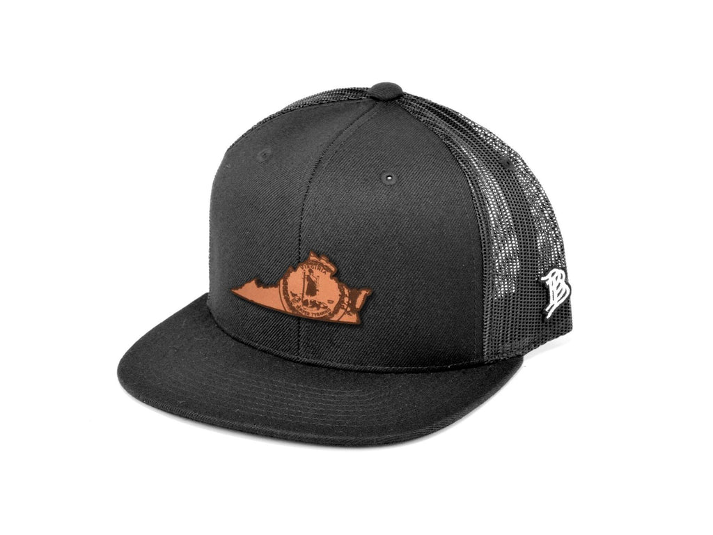 Branded Bills Virginia The 10 Leather Patch Hat Flat Trucker