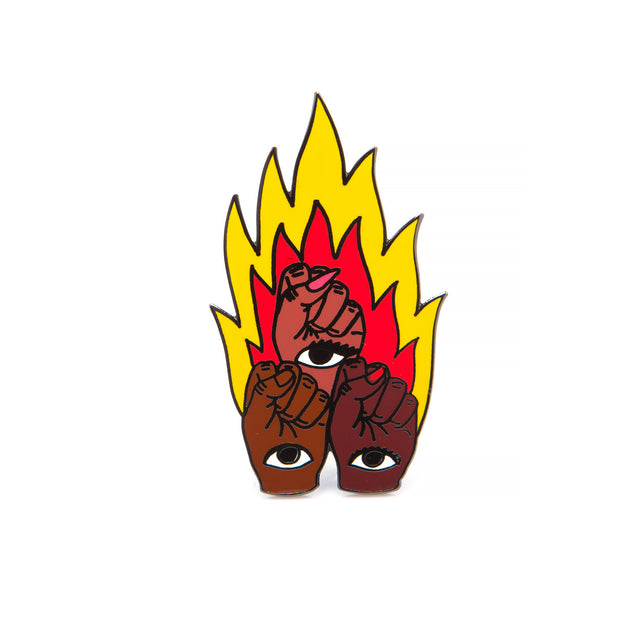 Flaming Fists Pin