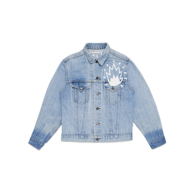 Atelier Flaming Heart Denim Jacket