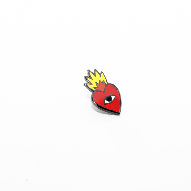 Flaming Heart Pin