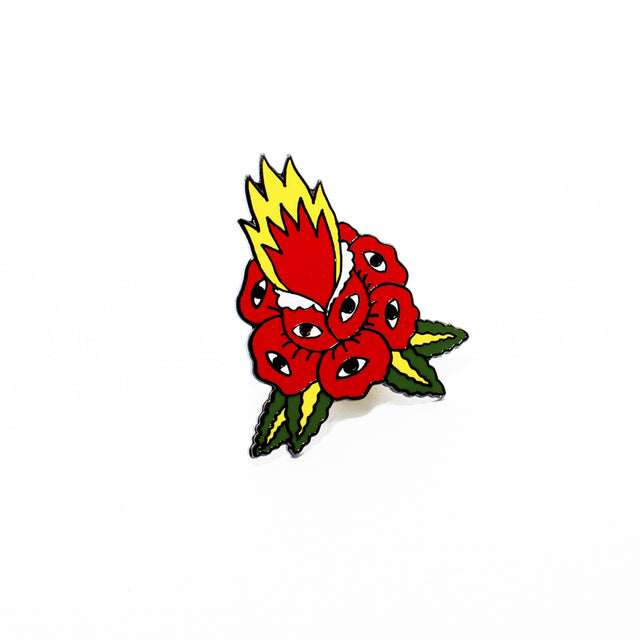 Flaming Rose Pin