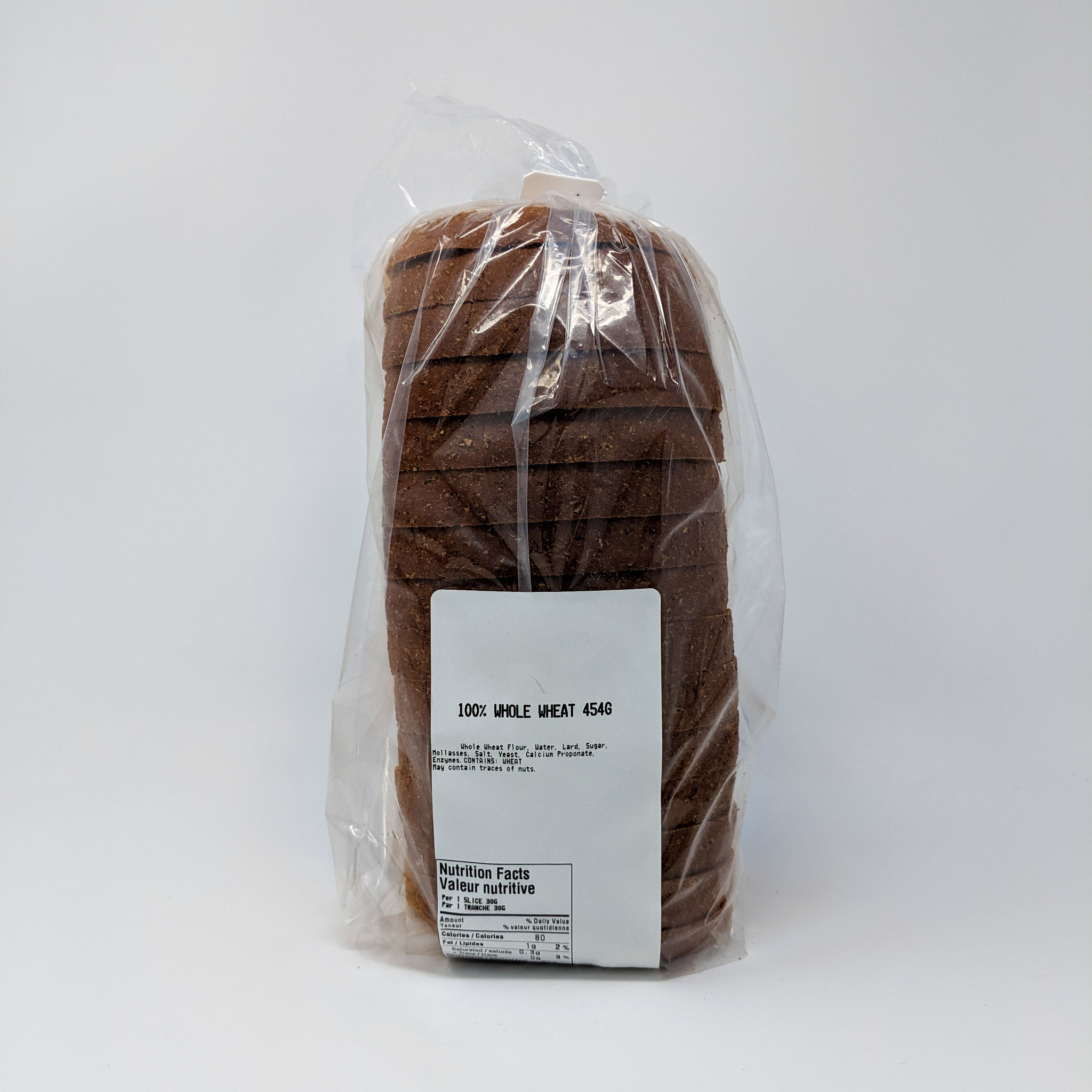 100% Whole Wheat Bread (454g) - St-Pierre
