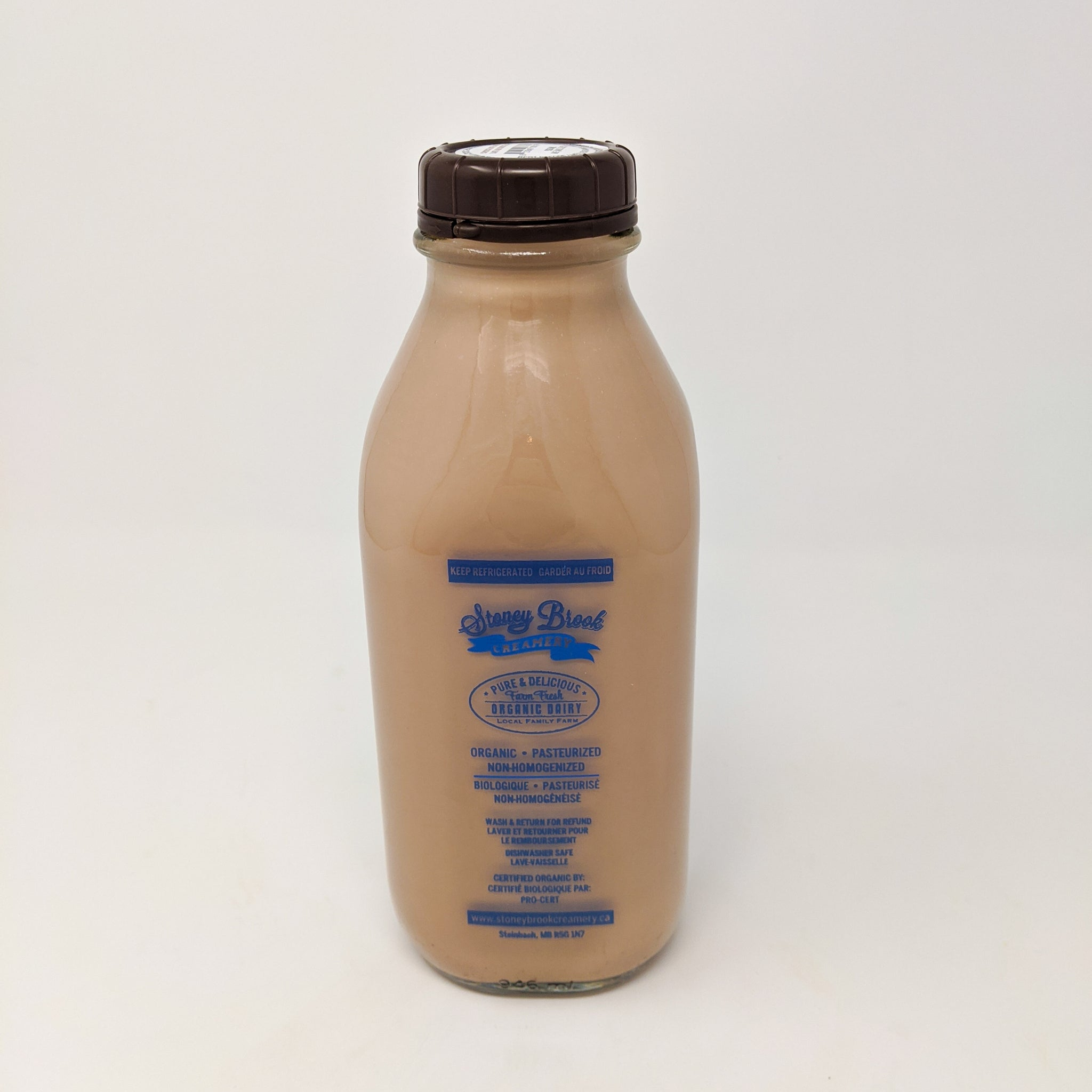 Organic Chocolate Milk - Stoney Brook Creamery (2$ bottle deposit included)