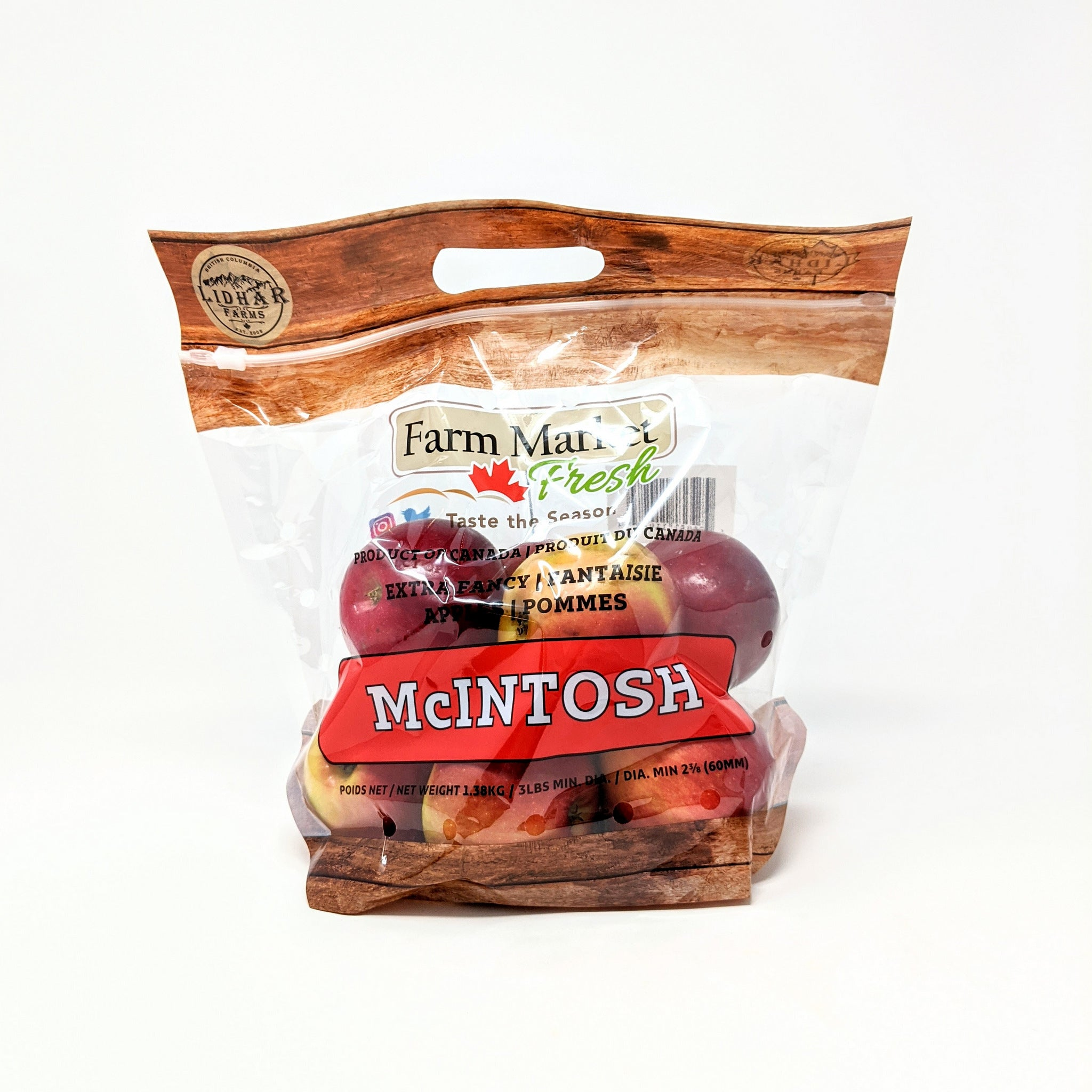 Macintosh Apples - BC Grown - 3lb Bag