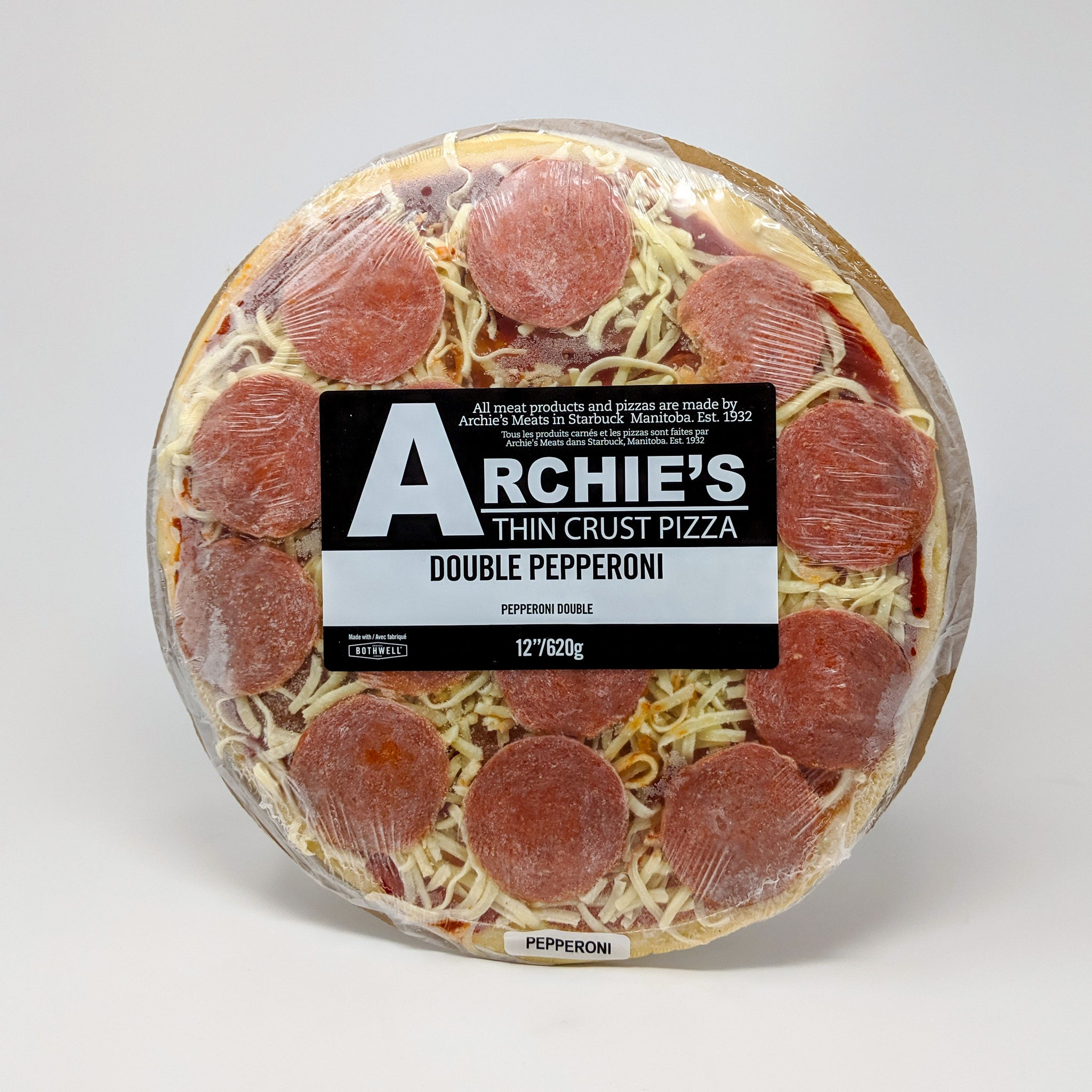 Archie's Double Pepperoni Pizza - Frozen
