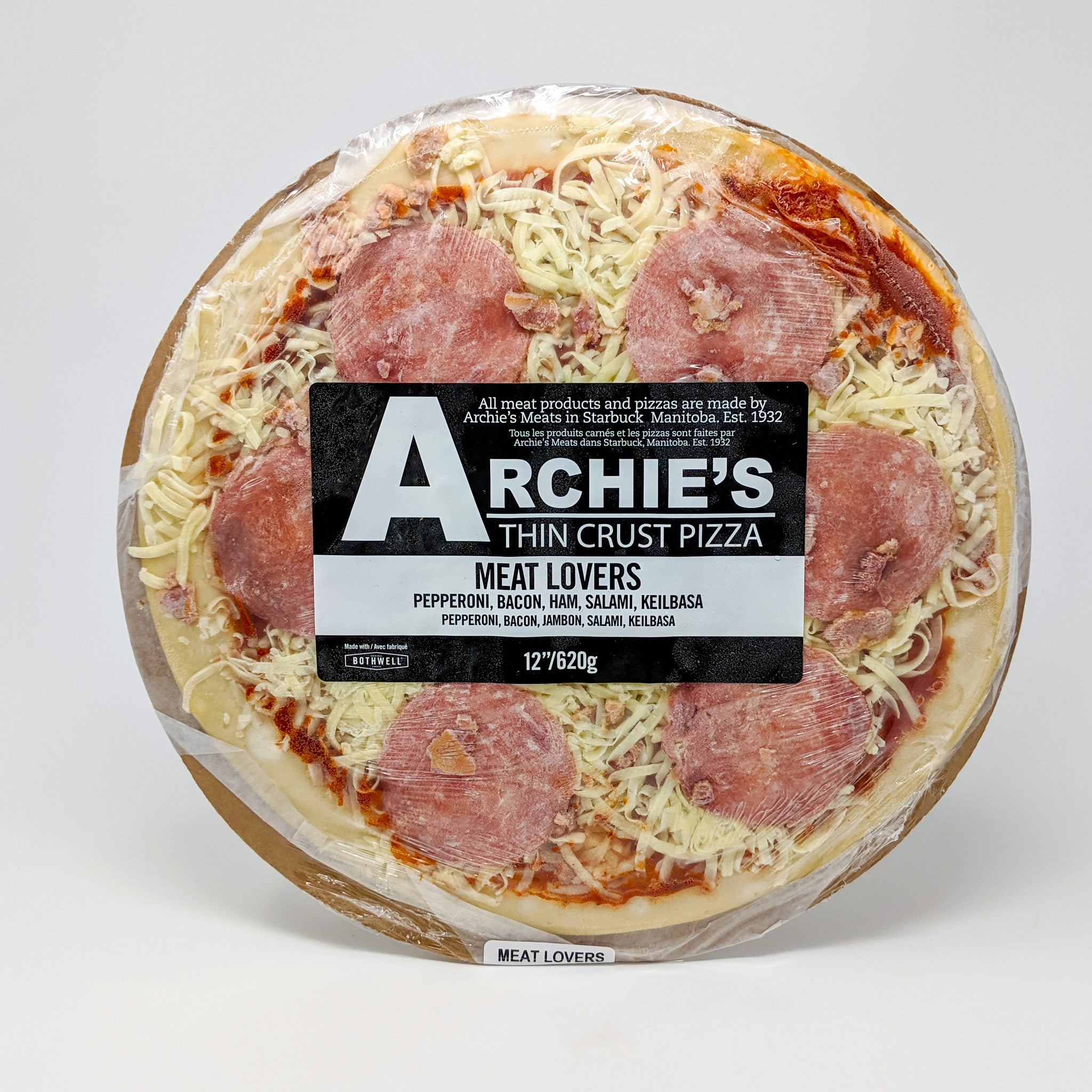 "Archie's 12"" Meat Lovers Pizza - Frozen"