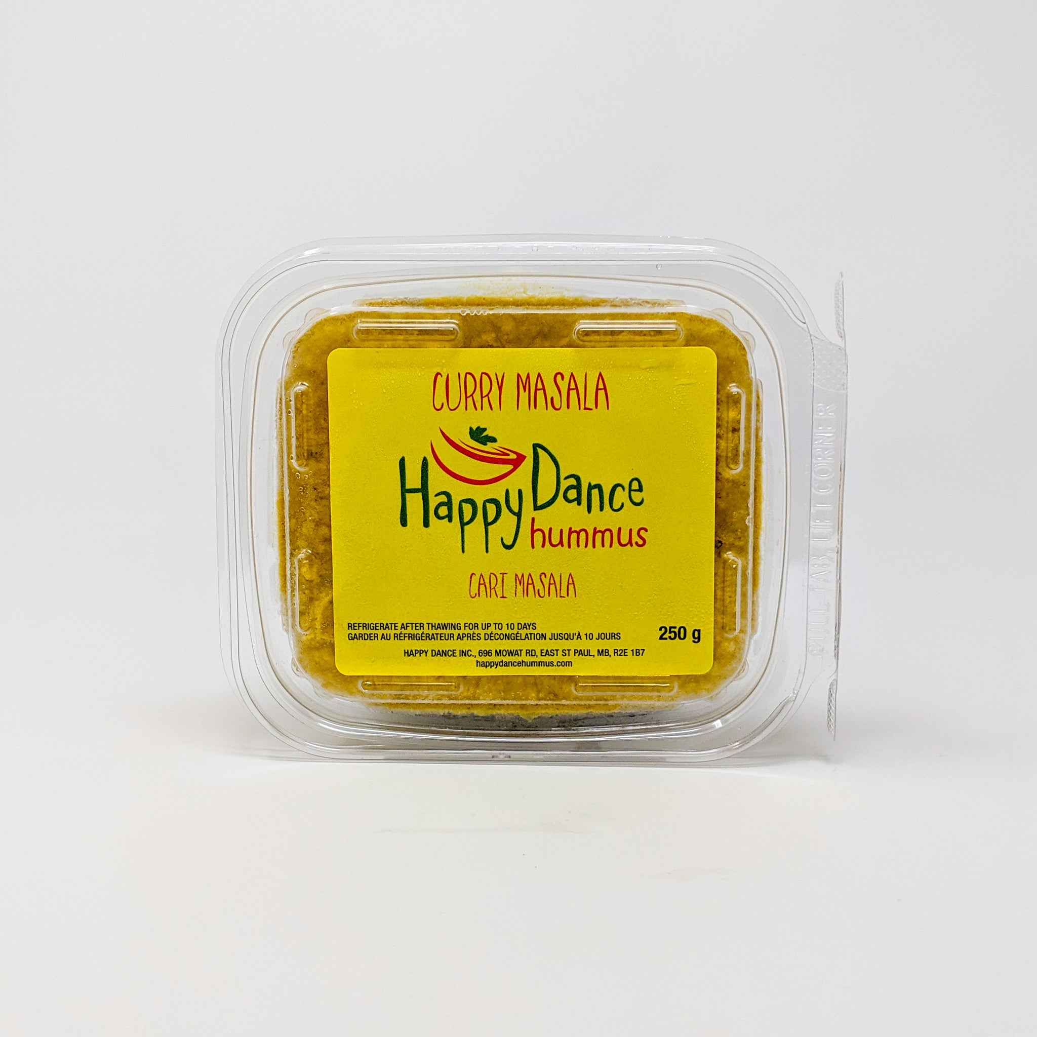 Curry Masala Hummus - Happy Dance Hummus - Frozen