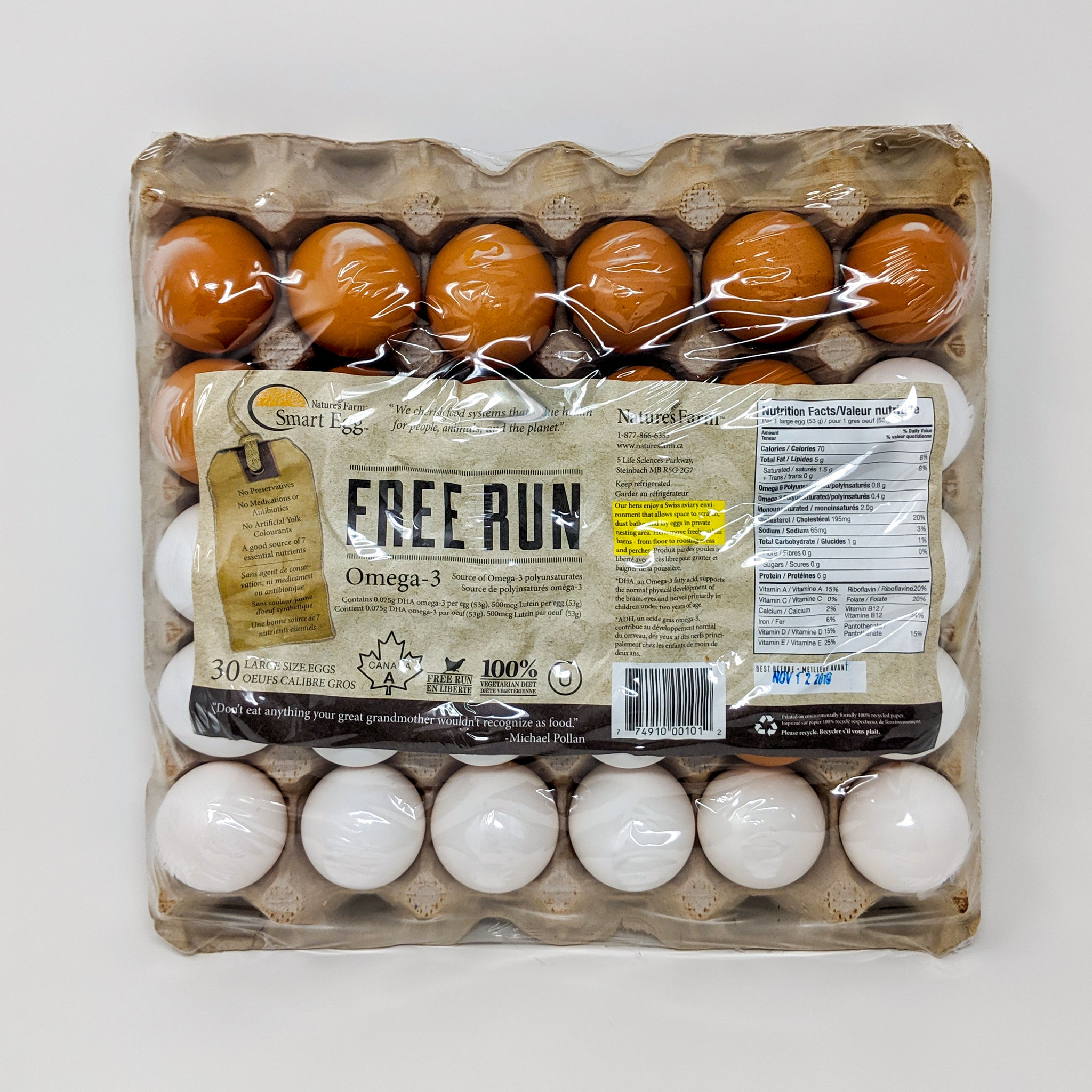 Freerange Eggs - 30 pack - Nature's Farms