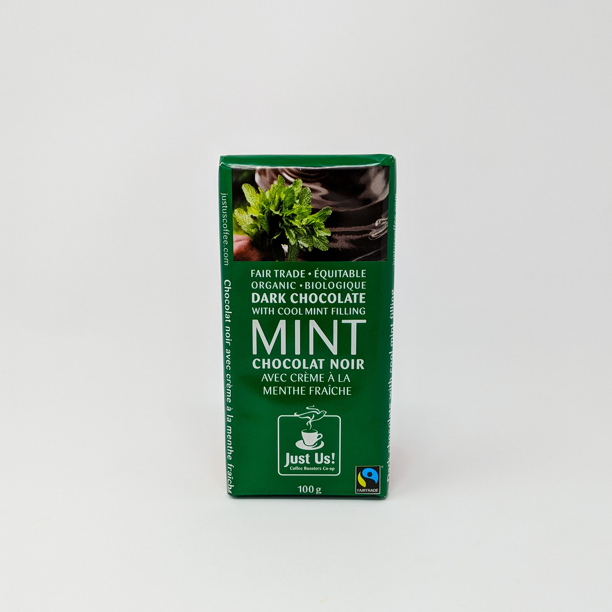 Mint Dark Chocolate Bar - Fair Trade & Organic - Just Us!