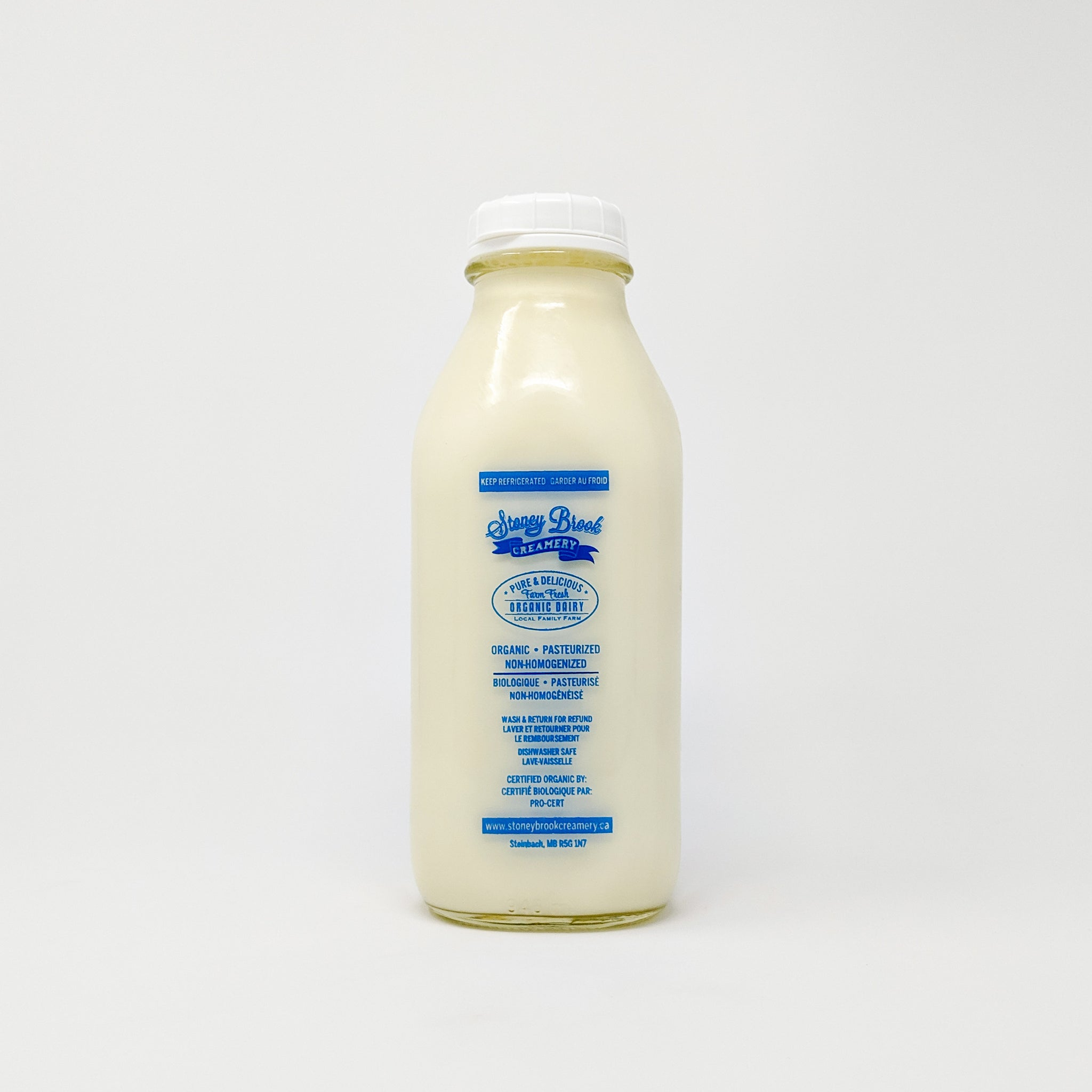 Organic Milk - Stoney Brook Creamery (bottle deposit included)