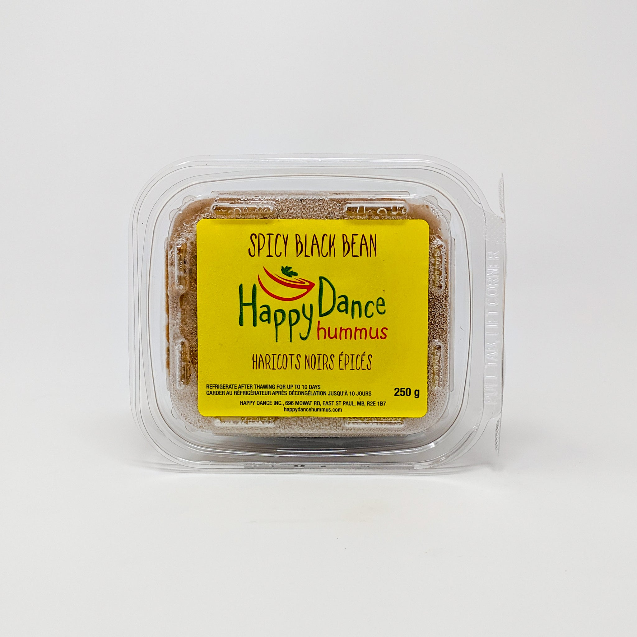 Spicy Black Bean Hummus - Happy Dance Hummus - Frozen