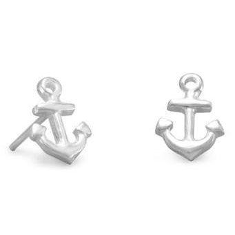 Sterling Silver Anchor Earrings
