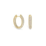 In/Out CZ Hoop Earrings
