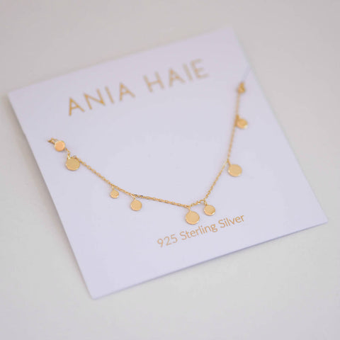 Gold Mixed Disk Necklace