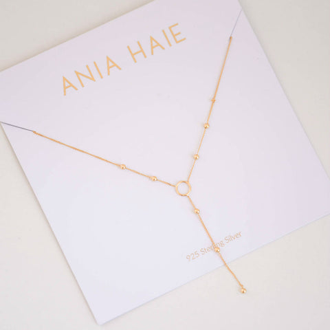 Modern Minimalism Y Gold Necklace