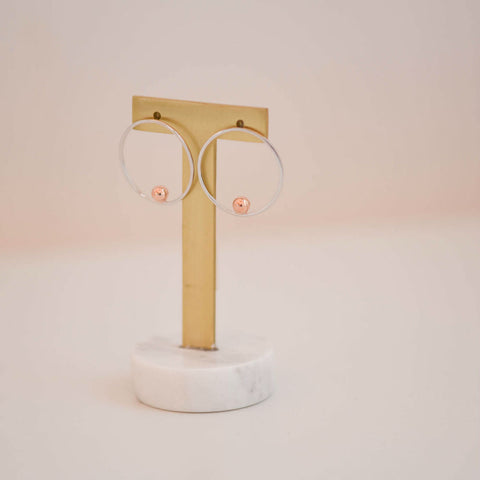 Orbit Front Hoop Earring