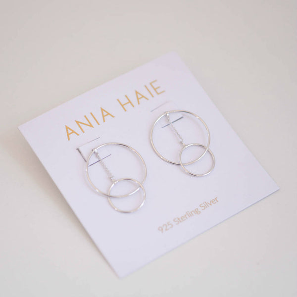 Modern Front Hoop Earrings