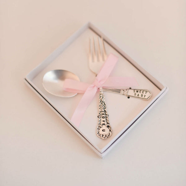 Baby Girl Feeding Set