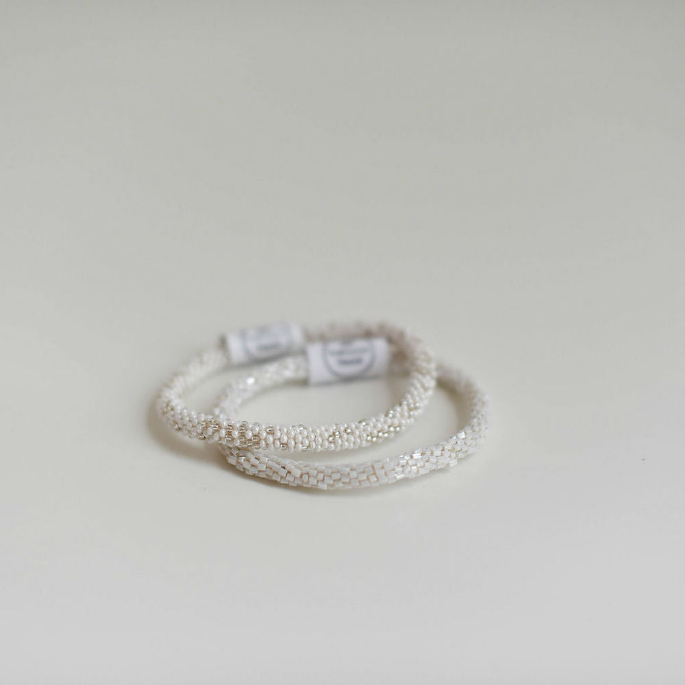Pearlescent White Roll-On Bracelets