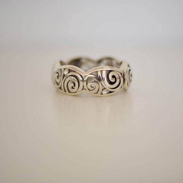 Swirls Bangle Bracelet