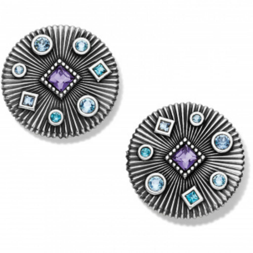 Halo Rays Round Post Earrings