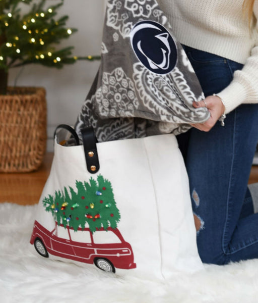Christmas Car Light Up Tote