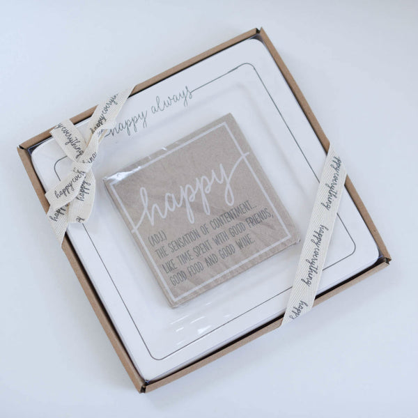 Happy Always Cheese Plate Set