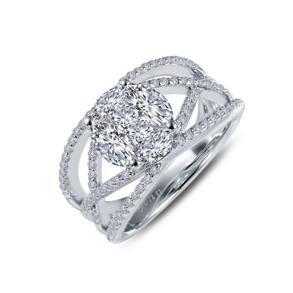 Criss Cross Diamond Lassaire Ring