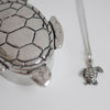 Pewter Turtle Necklace And Gift Box