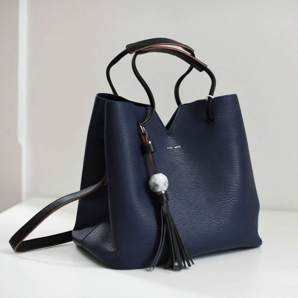 Jasmine Bag - Pebbled Navy