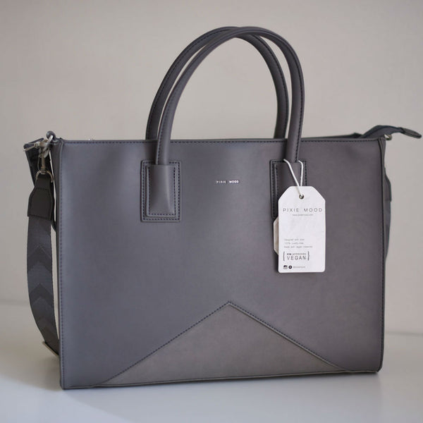 Greta Work Tote in Grey Nubuck