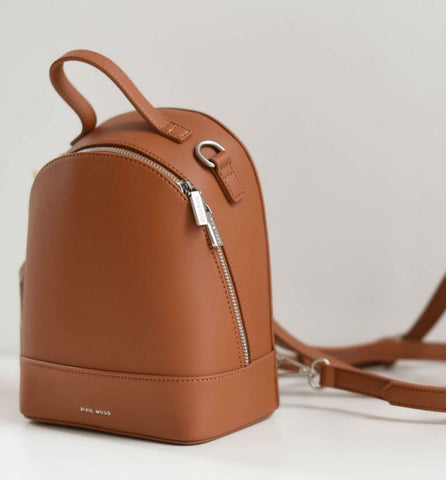 Small Cora Backpack - Cognac