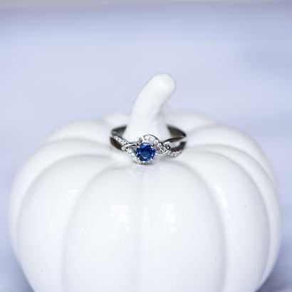 Lovely Round Sapphire Ring