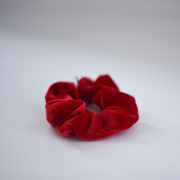 Velvety Red Scrunchie