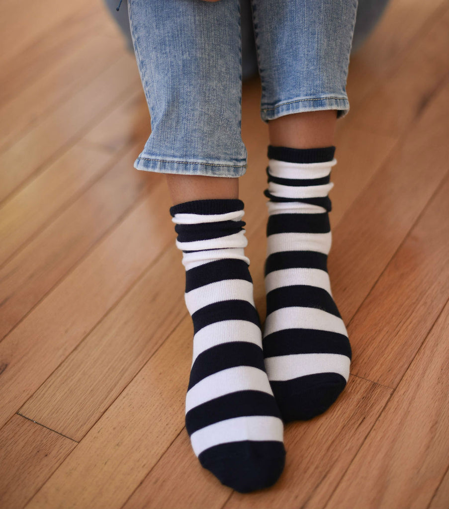 Blue And White Socks