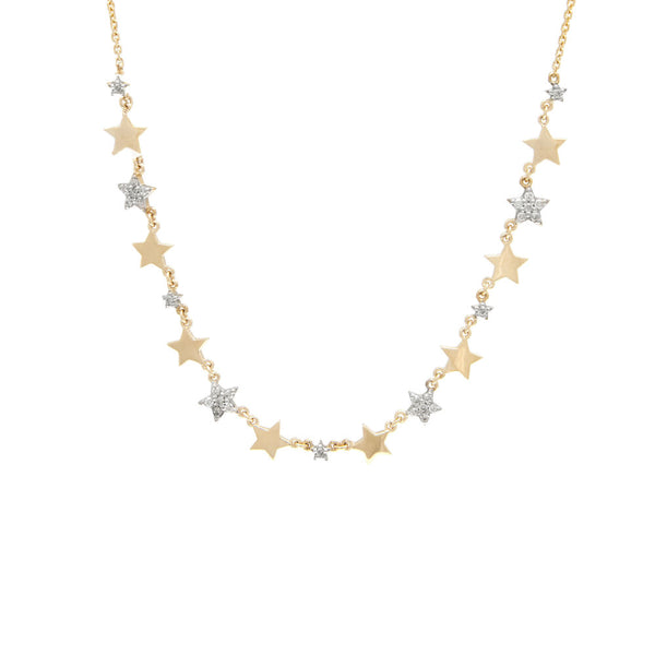 2-Tone Star Diamond Necklace